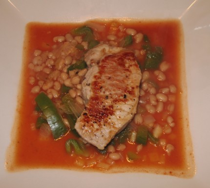 Pork chop navy beans recipe