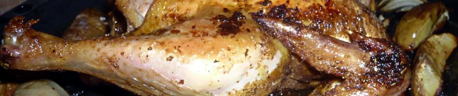 Roast whole chicken with crispy skin