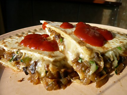 Tasty quesadillas