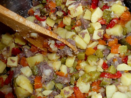 Romanian potato salad - work in progess