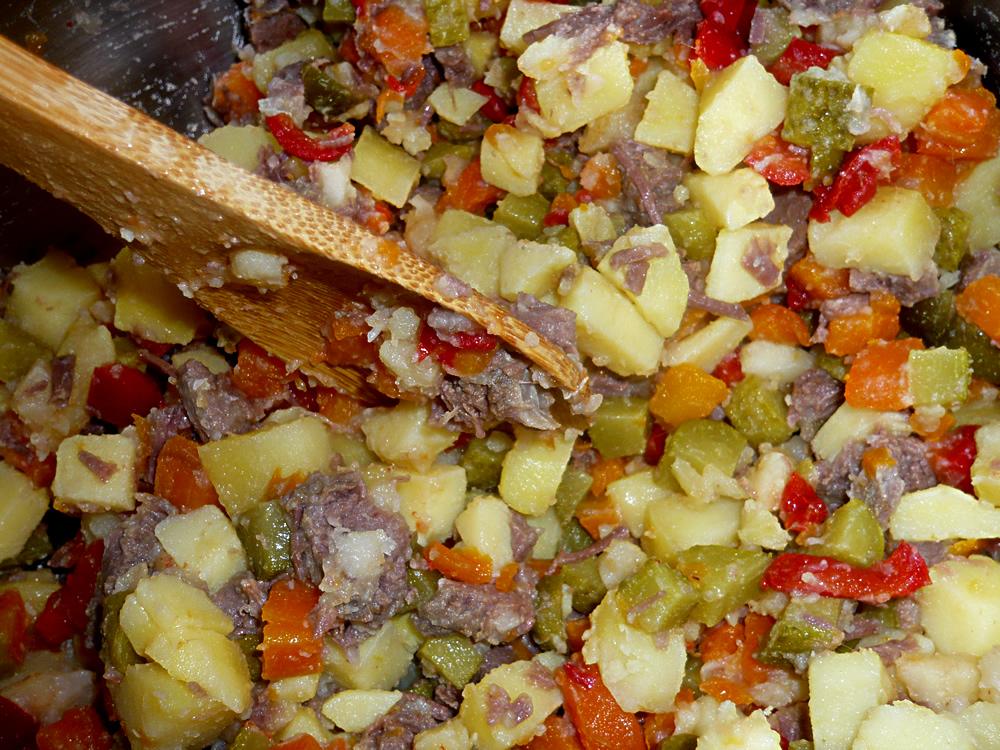 Romanian potato salad - work in progess