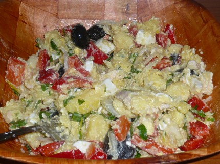 Cold baked potato salad