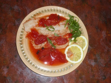 Yummy fish fillets on plate